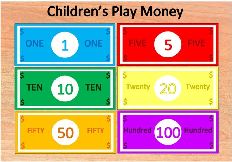 picture about Toy Money Printable known as Printable Childrens Participate in Funds~Bogus Monetary~Toy Economical~Wrong Forex~Finding out Applications~Youngsters Banking~Chore Income~Fast Obtain