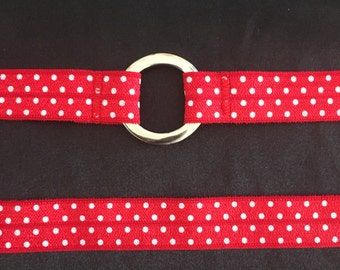 Red Polka Dot Choker - plain band or O ring