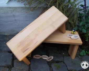 YOGA SET   2 meditation bench -  seiza / yoga bank - prayer stool  I  Ahni  I  WOOD  I laminated wood I (bitcoin accepted)