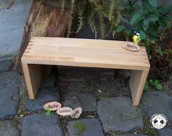 meditation bench  - seiza bank / yoga settle - prayer stool  I  Bhahni  I   BEECH  I  laminated wood I (bitcoin accepted)
