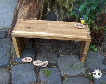 meditation bench / meditation settle - seiza / yoga bank - prayer stool  I  Ahni  I   ACACIA WOOD  I  laminated wood I (bitcoin accepted)