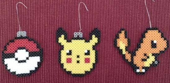 pokemon christmas ornaments set of 3
