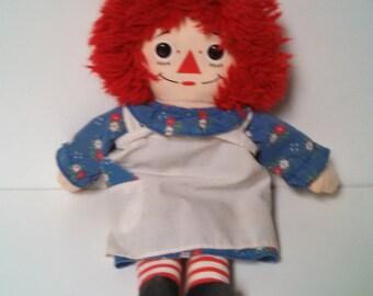 Raggedy Ann Rag Doll Hasbro Softies PA 282 Collectible Dolls