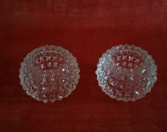 Clear Crystal Candle Holders Depression Glass Clear Glass Fancy Candle Holders