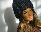 Trendy Crocheted Beanie Hat for Fashion Royalty or Barbie Doll
