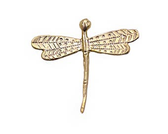 22k Matte Gold Plated Dragonfly Charm | Gold Dragonfly Pendant, Dragonfly Jewelry, Big Dragonfly Charm, Animal Charms, Gold Animal Pendant