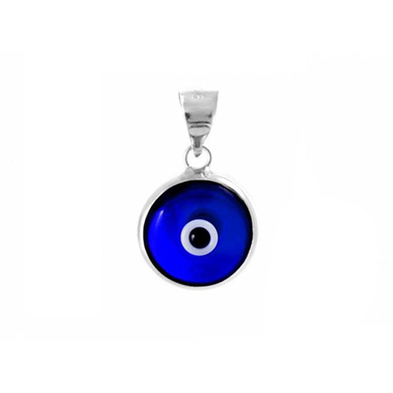 Argent Sterling 925 2 Evil Eye Charms 10 mm