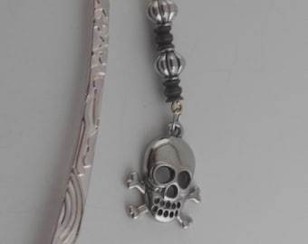 Silver Toned Tibetan Carved Bookmark
