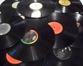 Vinyl Record Collection, 10 Lps Lot, Vinyl Record Arts, Floor Decor Ideas, Vintage Wall Decoration, Perfect Party Decor