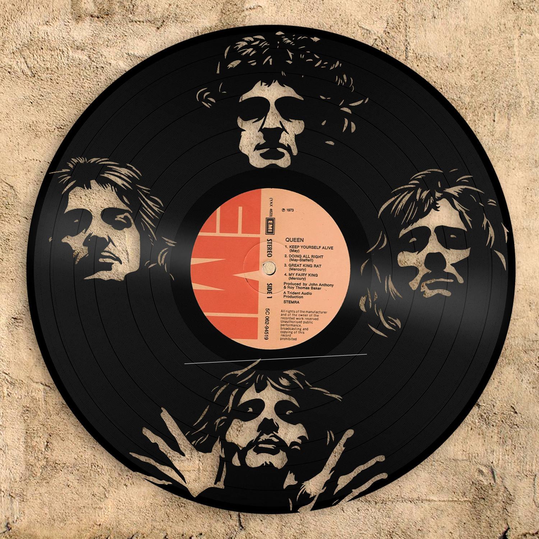 Freddie Mercury Queen Band Art Königin Rekord Flash Gordon | Etsy