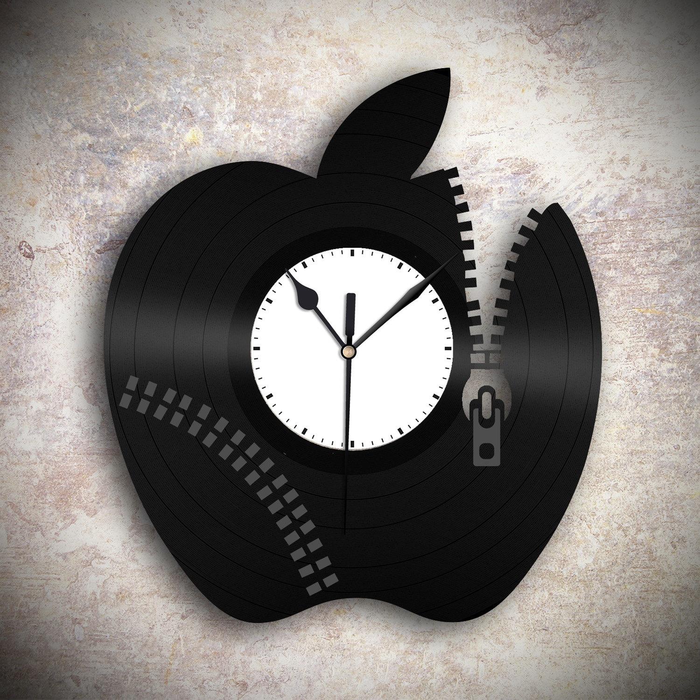 Apple Clock Unique Wall Clock Cool Wall Clock Modern Wall