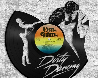 Dirty Dancing Art Patrick Swayze With Jennifer Grey No Body Puts Baby Movie Poster Record Art 30 Years Old Dirty Thirty Birthday, 30th Bday