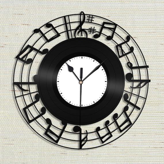 Sheet Music Clock Sheet Music Wall Art Music Notes Clock Etsy