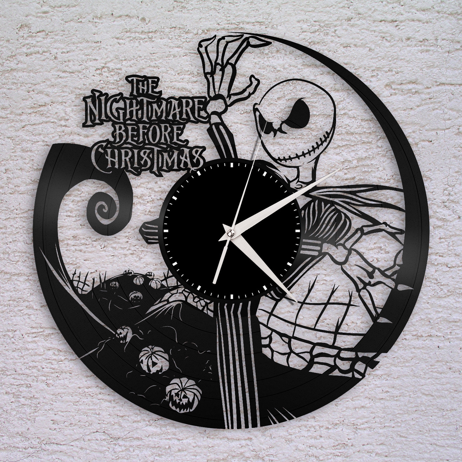 Wanduhr Nightmare Before Christmas Uhr Jack Skellington | Etsy