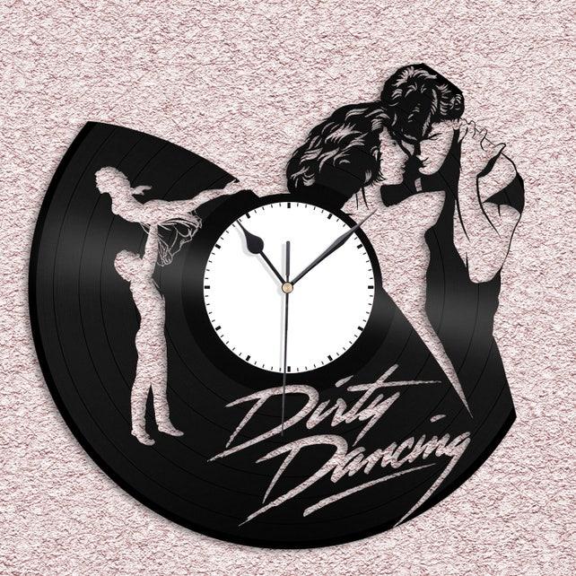 Dirty Dancing Kunst Uhr Vinyl Schallplatte Wandtattoo Dirty | Etsy
