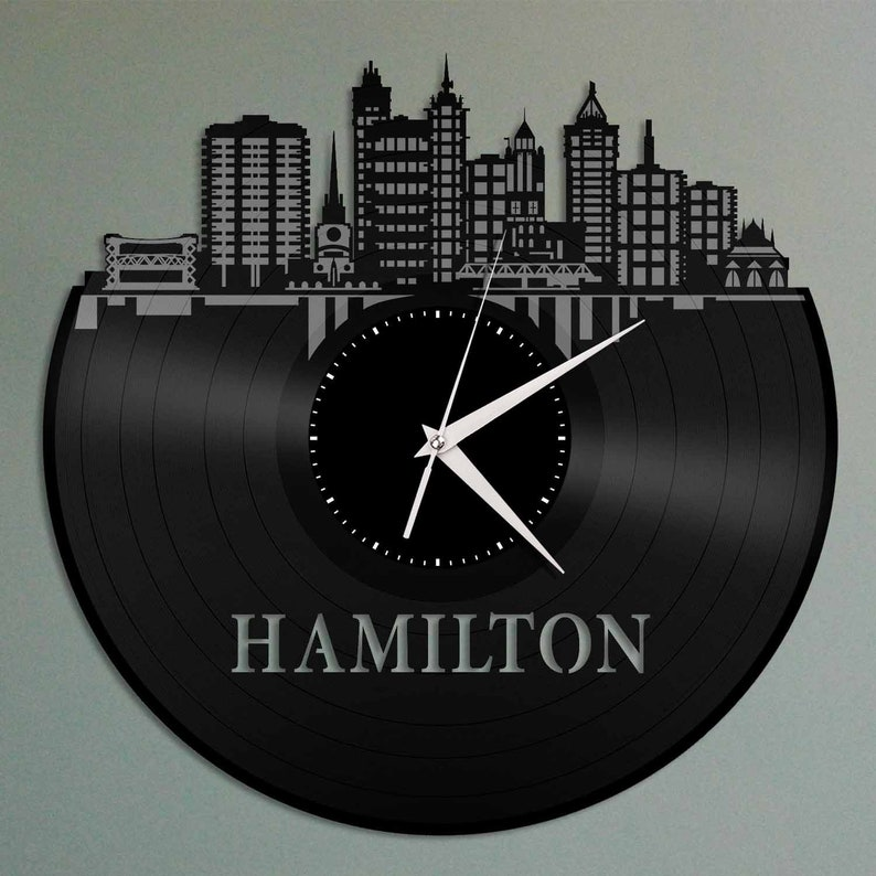 Hong Kong Vinyl Wall Clock City Skyline Travel Gift Home Bedroom Office Decor