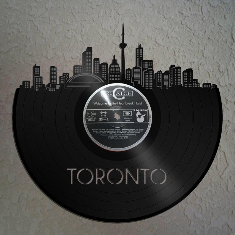 vinyl wall art wall decor toronto skyline toronto | etsy