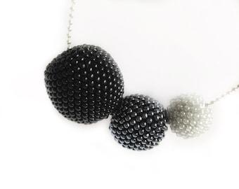 Ball Pendant Necklace beads-crochet-pendant necklace-Necklace-Bead crochet necklace MY sectional necklace