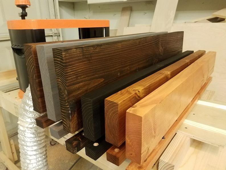 EBONY Easy Mount Wood Shelves, Floating Shelves Looks like Reclaimed Wood,  Floating Wood Shelves, Rustic Shelves, Solid Wood Wall Decor