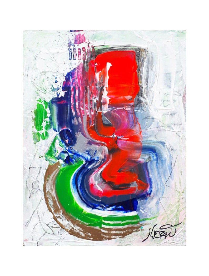 PAINTING ABSTRACT ART expressionist modern art urban image 0