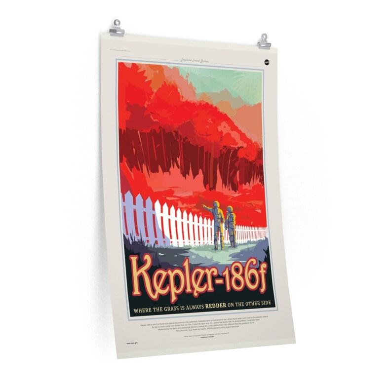Space Poster Wall Decor Space Travel Poster Geek Astronomy Poster Kepler 186b Nerd Nasa PRINT NASA POSTER Prints Vintage Poster