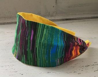 Striped Headband, Wide Fabric Headband, Headband For Women, Adult Headbands, Girls Headband, Fabric Headband, Elegant Headband