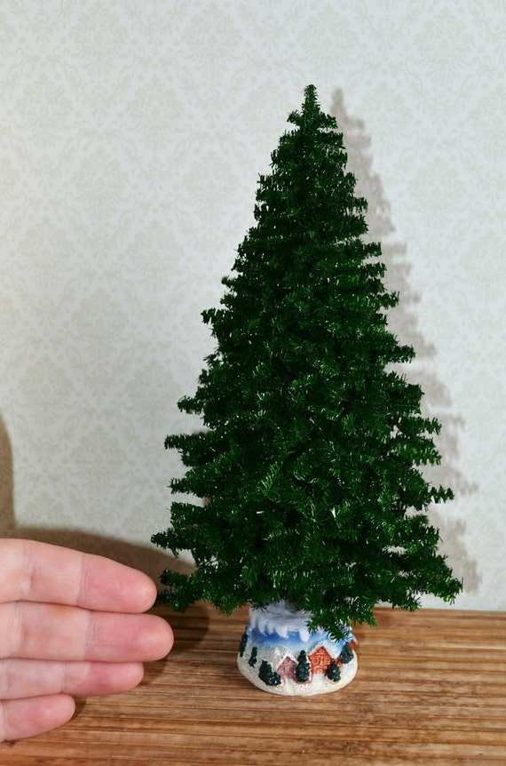 Dollhouse Miniature Christmas Tree Dollhouse Christmas Tree Etsy