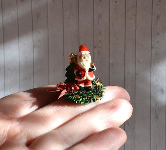 Christmas Dollhouse Miniatures.Dollhouse Miniature Christmas Decoration Miniature Santa On Table Scale 1 12 Scale One Inch Miniature Christmas Dollhouse Christmas
