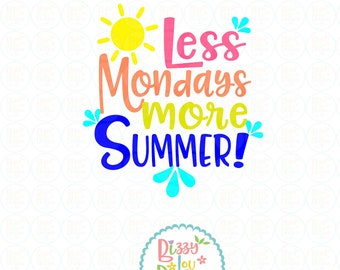 summer SVG, DXF, EPS, png summer cut file summer svg summer cut file beach cut file beach svg beach summertime cut file monday svg monday