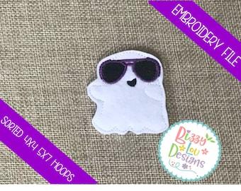 Cool ghost Feltie ghost embroidery feltie fall feltie design halloween feltie ghost feltie embroidery ITH ghost feltie planner felties ghost