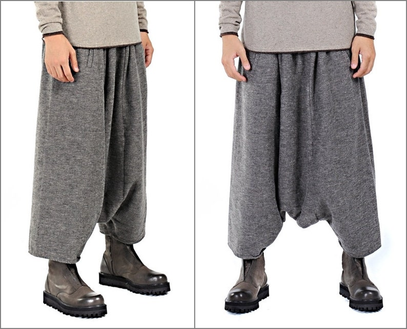 Sarrouel Japanese Wide Leg Stretch Cotton Trouser Yoga Pant  Unisex Sarouel Harem