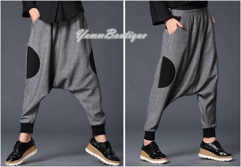 cbbe5ffaf2 Sarouel Japanese Wide Leg Stretch Cotton Trouser Yoga Pant | Etsy