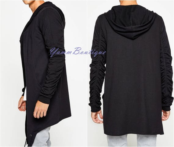Plus Size Asymmetrical French Terry Cardigan Boutique
