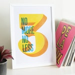 3 No More No Less // Art Print // Hip Hop // A3