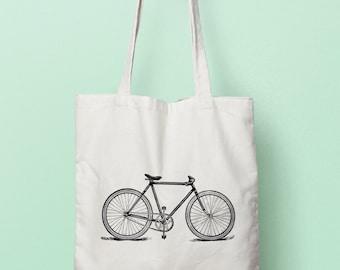 Vintage Bicycle - Canvas/Cotton Tote Bag