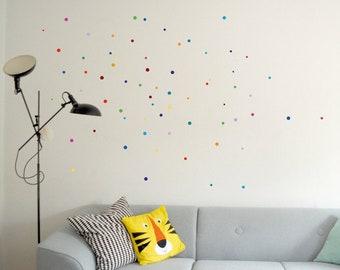 Wall tattoo confetti dots tile stickers window stickers