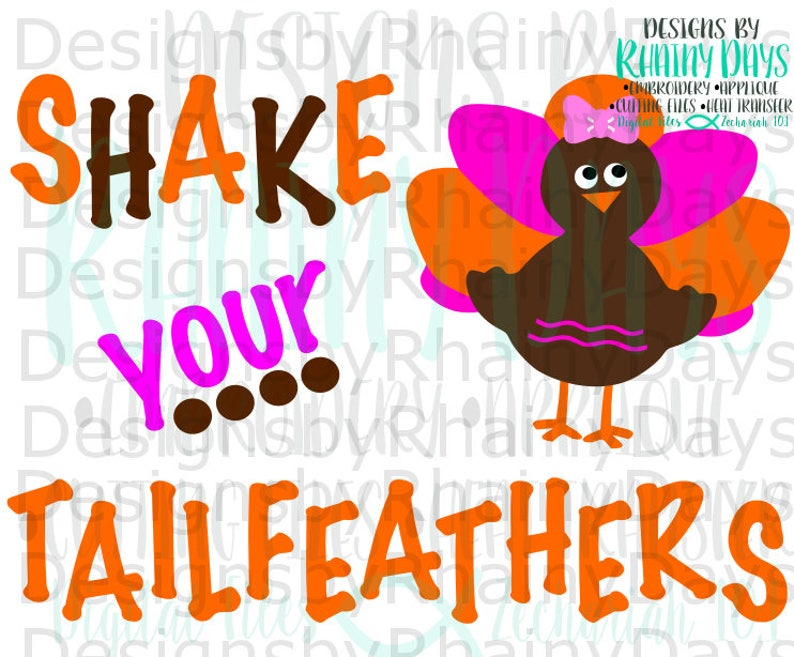 Buy 3 Get 1 Free Shake Your Tailfeathers Svg Cutting Design Etsy