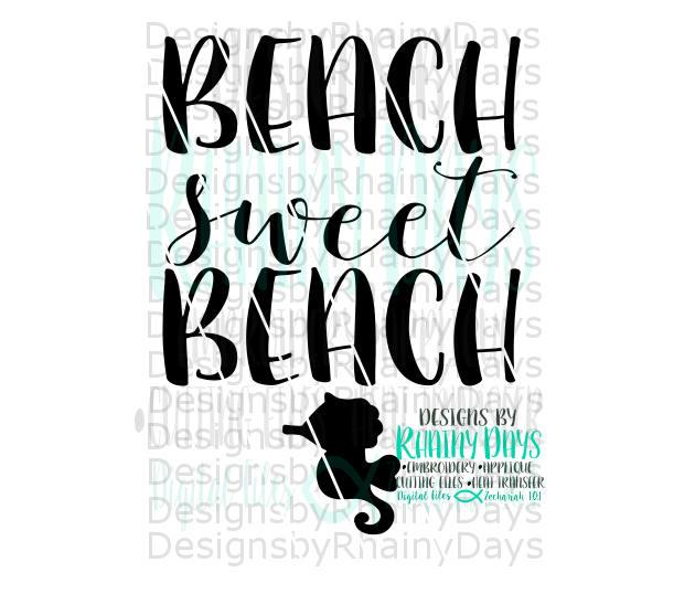 Buy 3 get 1 free! Beach sweet beach cutting file, beach SVG, DXG, png,  seahorse, beach babe, beach home, beach house design