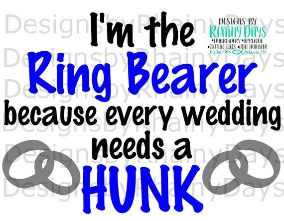 Buy 3 Get 1 Free I M The Ring Bearer Because Every Etsy