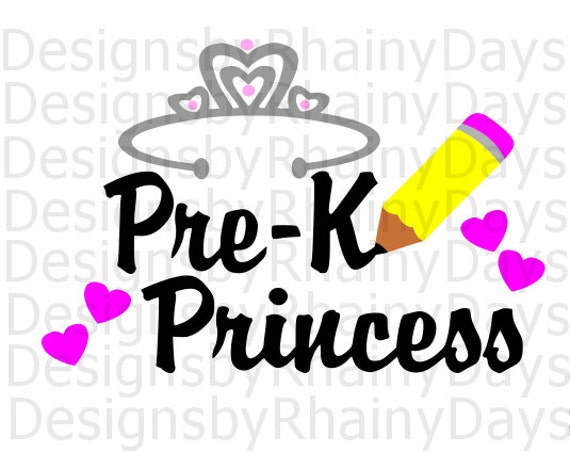 Buy 3 Get 1 Free Pre K Princess Cutting File Back To School Etsy