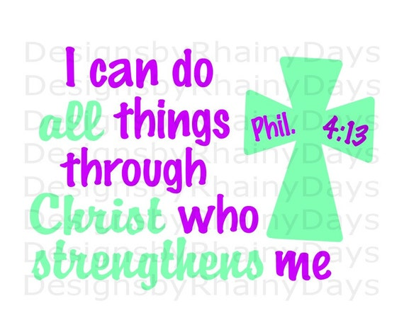Buy 3 Get 1 Free I Can Do All Things Through Christ Who Etsy