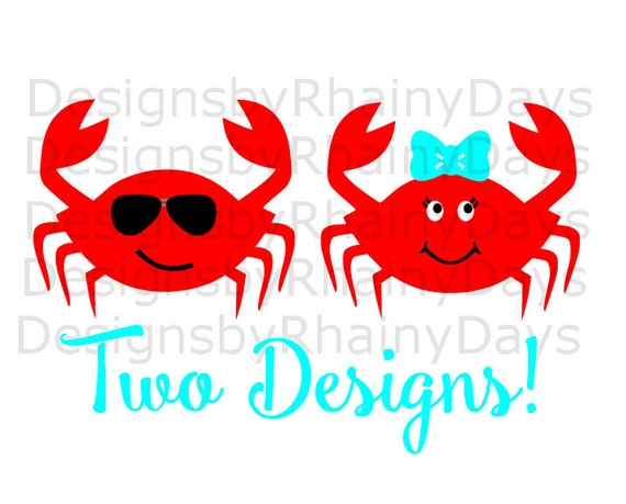 Buy 3 Get 1 Free Crab Cutting File Svg Dxf Png Crab Girl Etsy