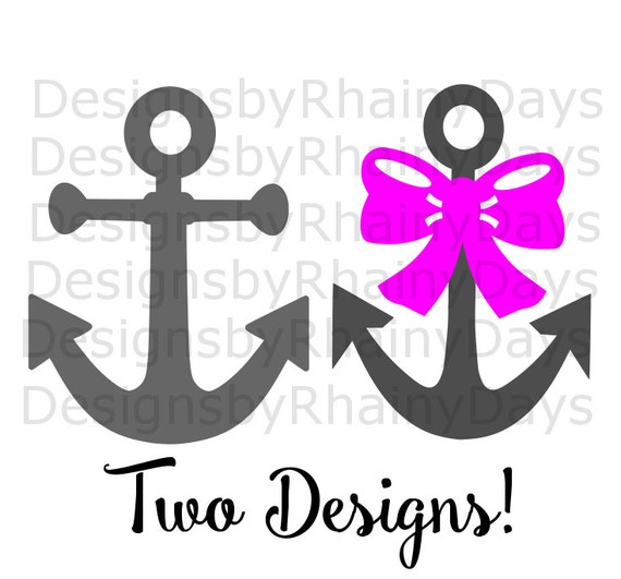 Buy 3 Get 1 Free Anchor With Bow And Anchor Cutting File Etsy