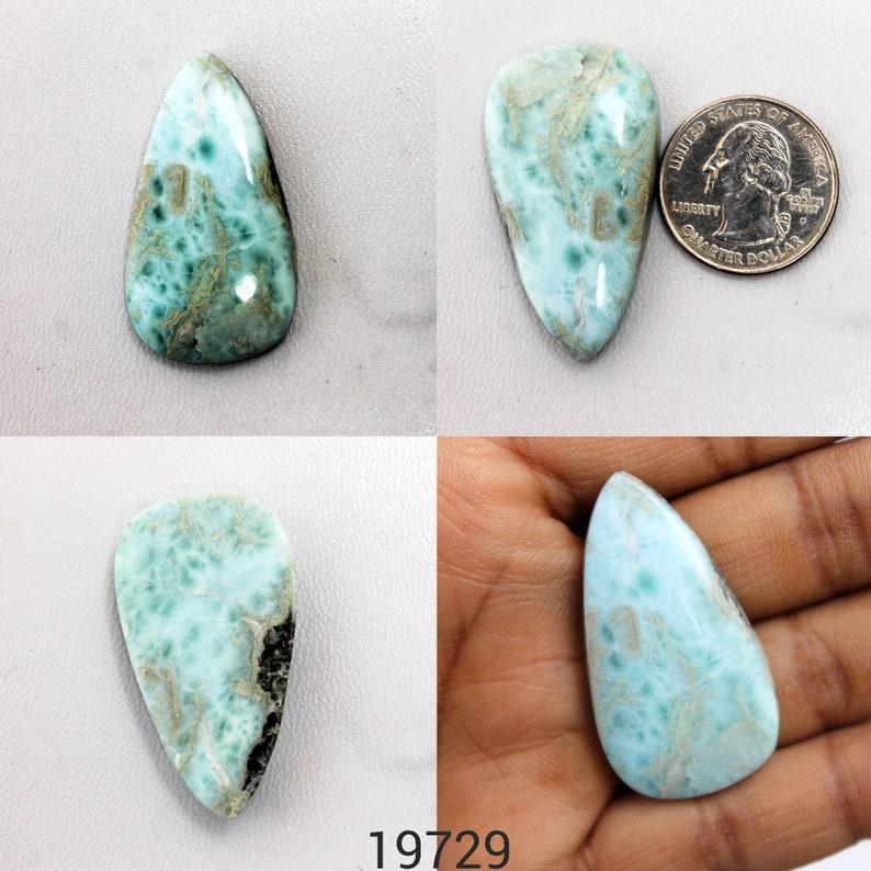 Larimar Gemstone Larimar Cabochon AAA+ Larimar Beads Pendants Larimar Stone For Wire-Wrap Rings Necklace Jewelry Making Loose Stones