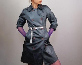 573e487648604 Shiny trench coat | Etsy
