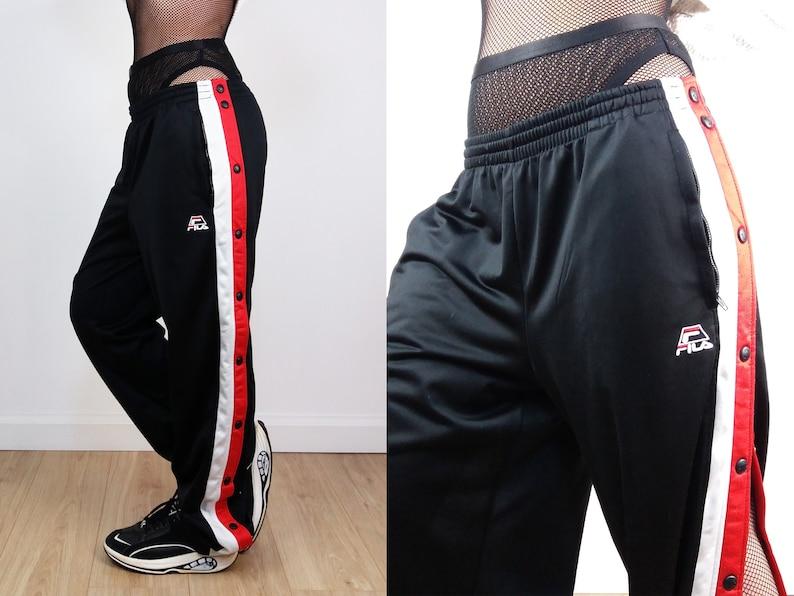FILA Vintage 90 s Unisex FILA Tearaway Side Popper Pants    9fedcb4787