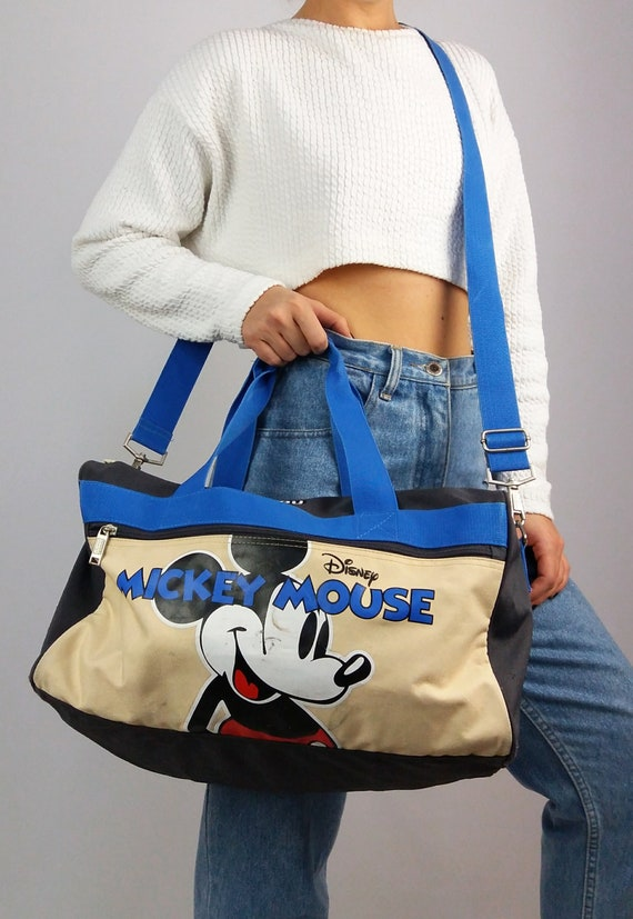 fa1b4978050 4YOU Vintage 90 s Disney Mickey Mouse Cartoon Duffel Bag   Etsy