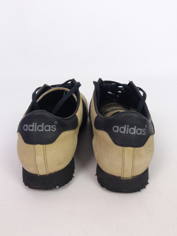 Vintage *Ultra Rare* 80's ADIDAS VIP Made in Yugoslavia Leather Sneakers Trainers Athletic Shoes ~ size EU 40 23 us 7.5