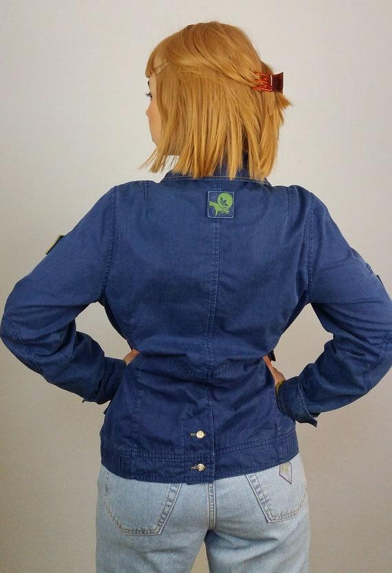 Vintage Y2K Adidas Denim Jacket Blazer Workwear Style ~ size XS S