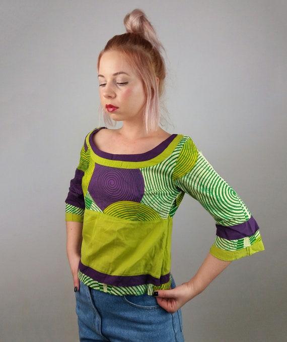 33ea574b8f7f73 Vintage 90 s Indian Cotton Festival Top   Shirt   Blouse